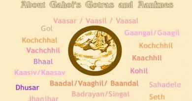 Gahoi Gotra Aankne