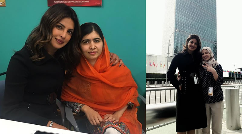 Priyanka with Malala Yousafzai-Muzoon Almellehan