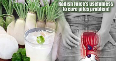 Radish Juice's usefulness to cure piles problem!