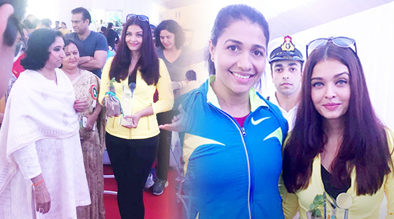 Aishwarya flags off a marathon race!