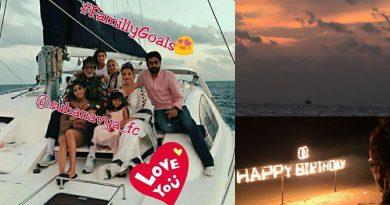 Bachchans at Maldives on Big B's 75th birthday!