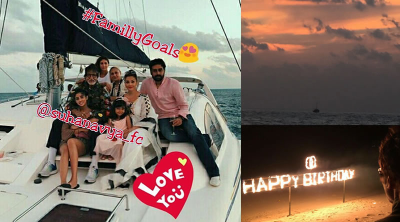 Bachchans at Maldives on Big B's 75th birthday!