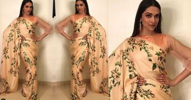 Deepika Padukone's ethereal look in saree during Padmavati promotions!