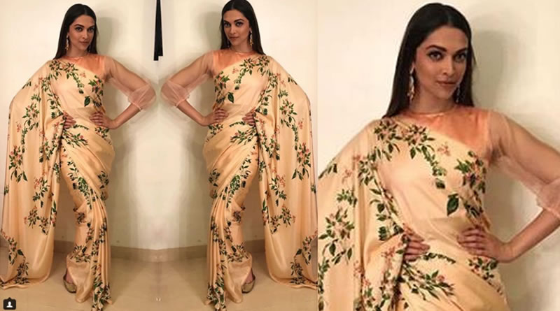 Deepika Padukone's ethereal look in saree during Padmavati promotions!