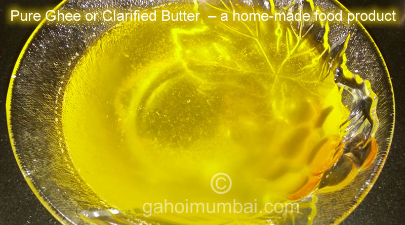 Pure Ghee or Clarified Butter making recipe and its video!
