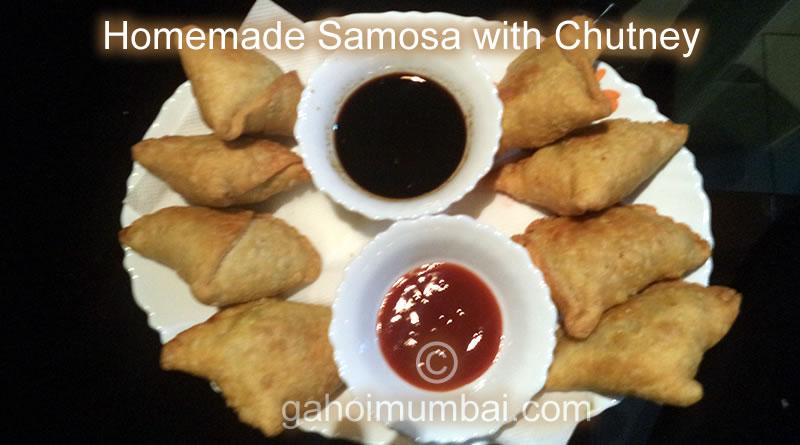 Homemade Samosa with Chutney and its Recipe!