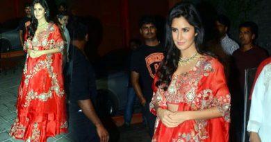 Katrina Kaif's traditional look at Arpita Khan's Diwali party!