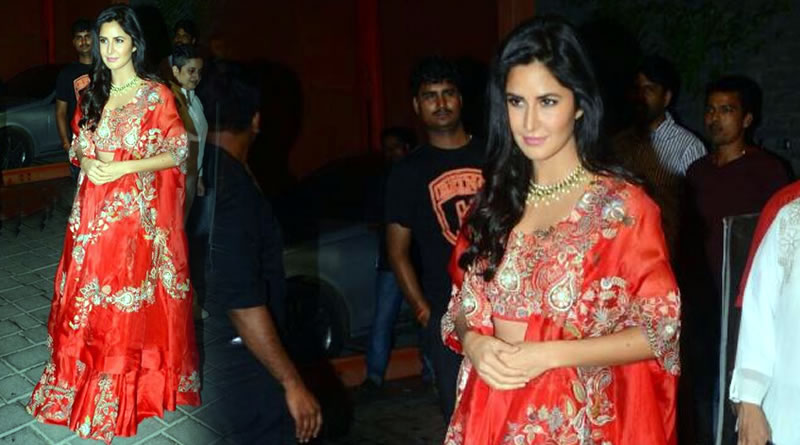Katrina Kaif's traditional look at Arpita Khan's Diwali party!