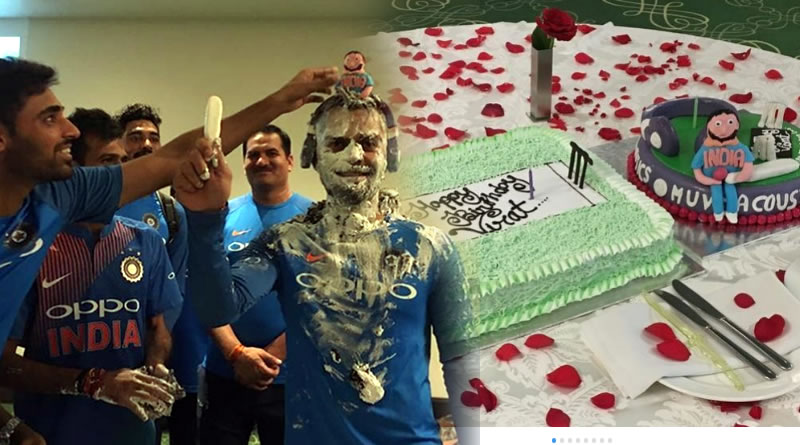 Indian cricket team captain Virat Kohli celebrates his birthday lately.