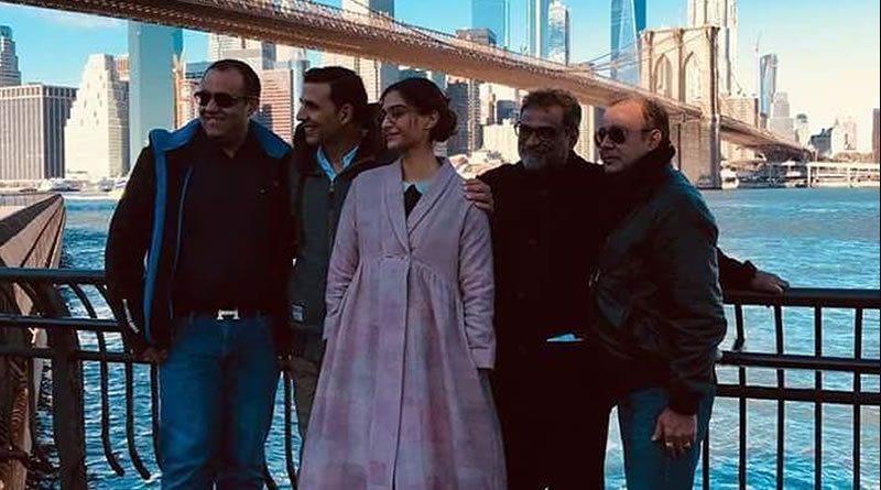 PadMan's last schedule in New York with Akshay and Sonam!