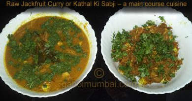 Raw Jackfruit Curry or Kathal Ki Sabji and its recipe with video!