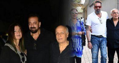 Sanjay Dutt, Mahesh Bhatt, Pooja Bhatt clicked together for Sadak 2
