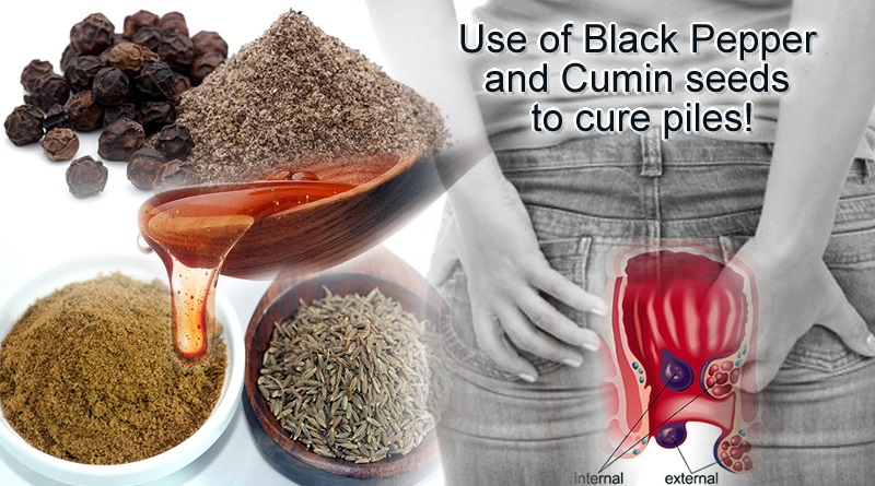 Information about use of Black Pepper and Cumin seeds to cure piles!