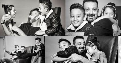 Sanjay Dutt's happy moments with his children Iqra and Shahraan!