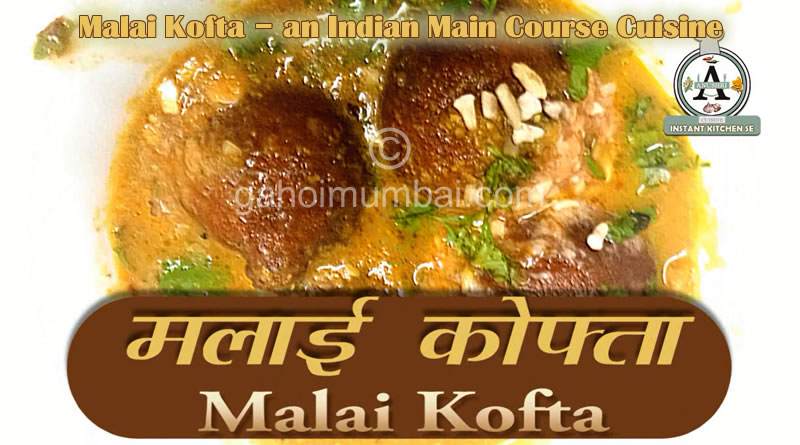 Malai Kofta – an Indian Main Course Cuisine and its instant recipe with video!