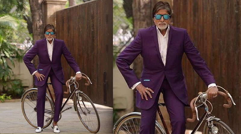 Now Big B's bicycle ride!