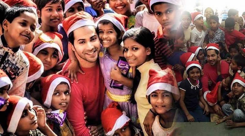 Varun Dhawan's Christmas with orphan kids!