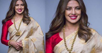 Priyanka Chopra's desi avatar in a saree!
