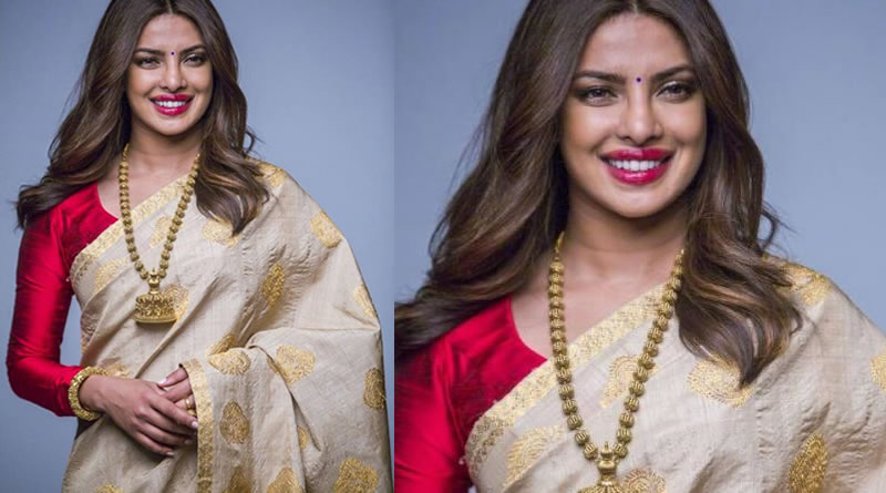 Priyanka Chopra's desi avatar in a saree!