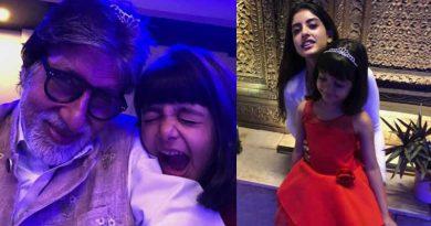 Big B's New Year with granddaughters Aaradhya and Navya Naveli!
