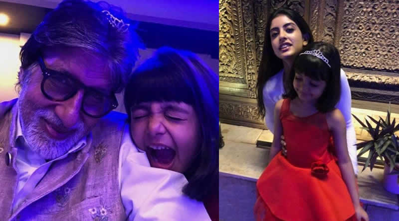 Big B's New Year with granddaughters Aaradhya and Navya Naveli!