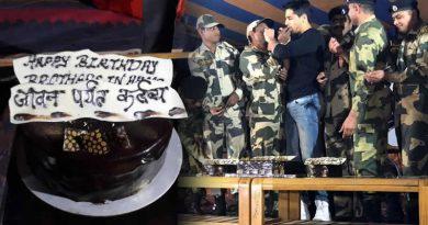 Sidharth Malhotra's birthday celebration with 16 Jawans with the same birth date!