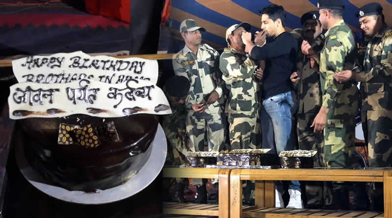 Sidharth Malhotra's birthday celebration with 16 Jawans with the same birth date!