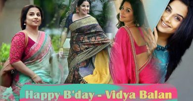 Happy Birth Day to gorgeous and talented actress Vidya Balan!