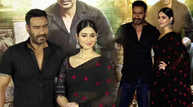 Ajay Devgn and Ileana D'Cruz donned black for Raid's trailer launch!