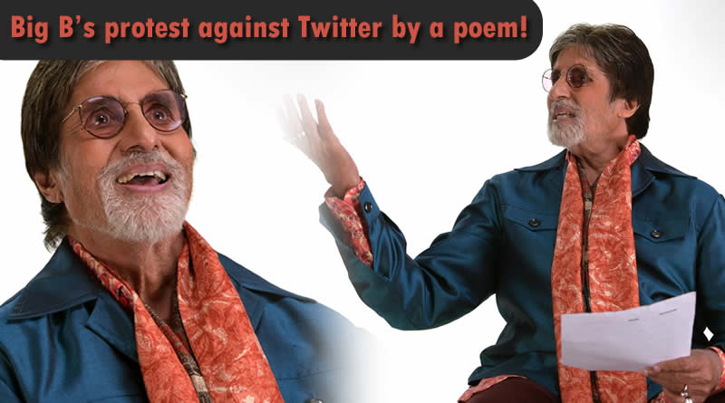 Big B's protest against Twitter by a poem!