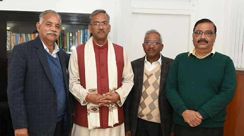 Gahoi Vaishya Surya Dham's launching invite to Chief Minister Trivendra Singh Ji Rawat!
