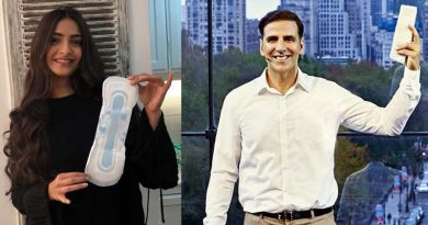 Sonam accepts Akshay's challenge of holding a pad!