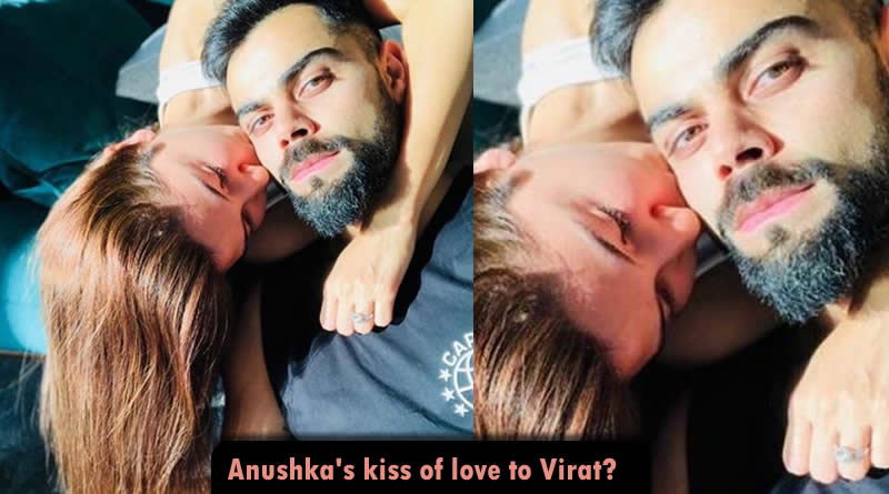Anushka Sharma's kiss of love to Virat Kohli in their abode!