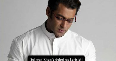 Salman Khan's debut as lyricist with Race 3!