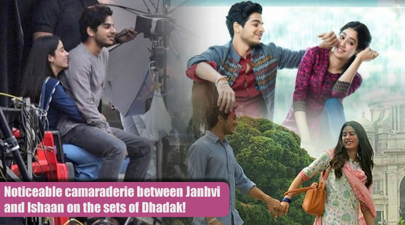 Noticeable camaraderie between Janhvi and Ishaan on the sets of Dhadak!