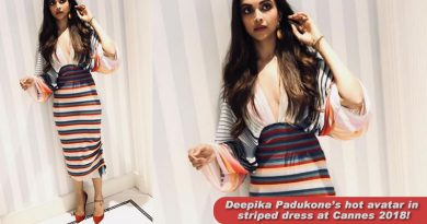 Deepika Padukone's hot avatar in striped dress at Cannes 2018!
