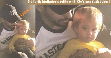 Sidharth Malhotra's cute pose with Karan Johar's son Yash Johar!
