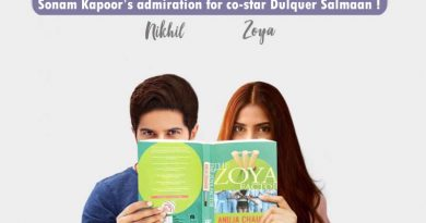 Sonam Kapoor's admiration for her The Zoya Factor's co-star Dulquer Salmaan!
