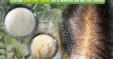 Curd and Besan (Gram Flour) use in dandruffs and hair loss remedy!