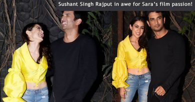 Sushant Singh Rajput in awe for Sara's film passion!