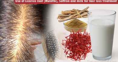Use of Licorice root (Mulethi), Saffron and milk for hair loss treatment!