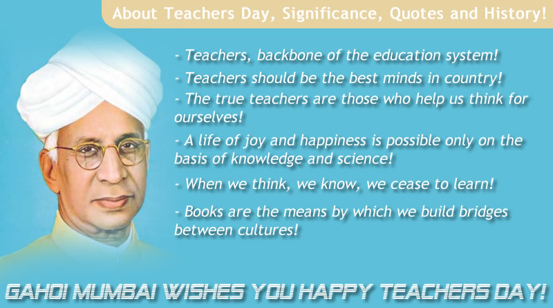 About Teachers Day, Significance, History and Quotes!