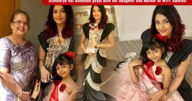 Aishwarya Rai Bachchan poses with her daughter and mother at WIFT Awards!