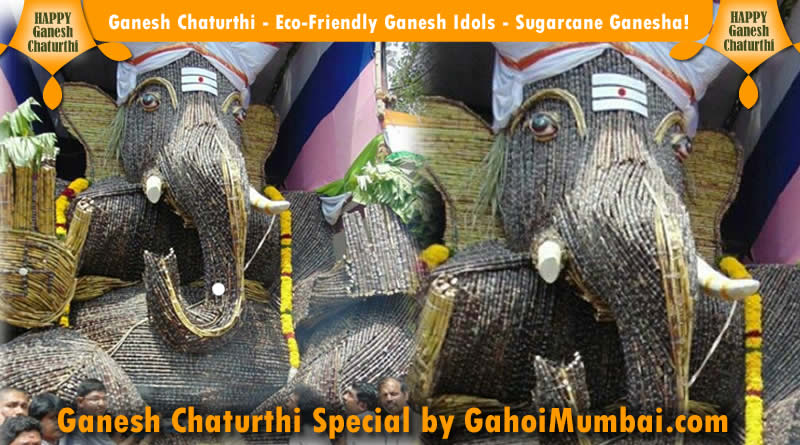 Ganesh Chaturthi - Eco-Friendly Ganesh Idols - Sugarcane Ganesha!