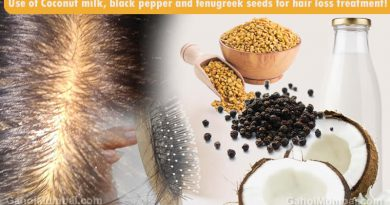 Use of Coconut milk, black pepper and fenugreek seeds for hair loss treatment!