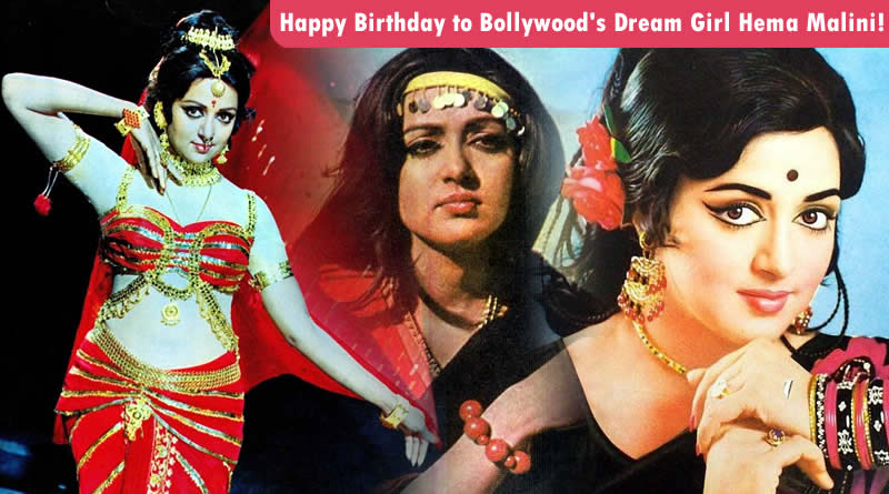 Happy Birthday to Bollywood's Dream Girl Hema Malini!