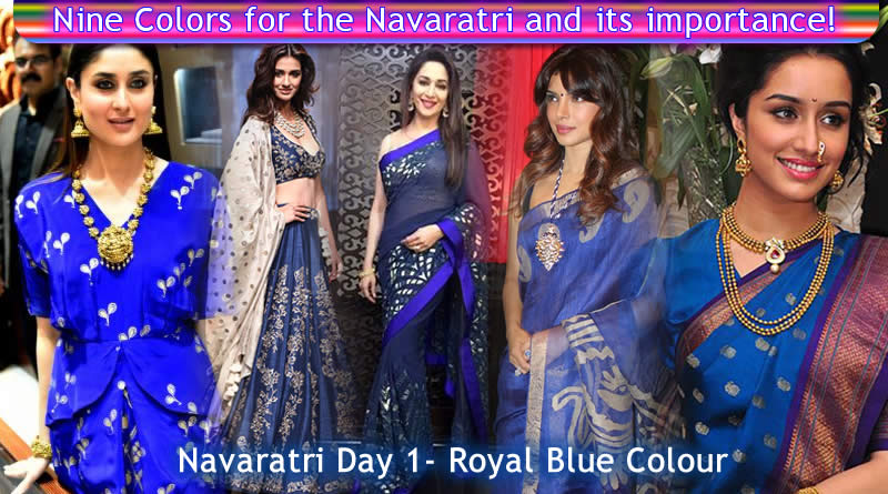 Navaratri Day 1 - Royal Blue Colour