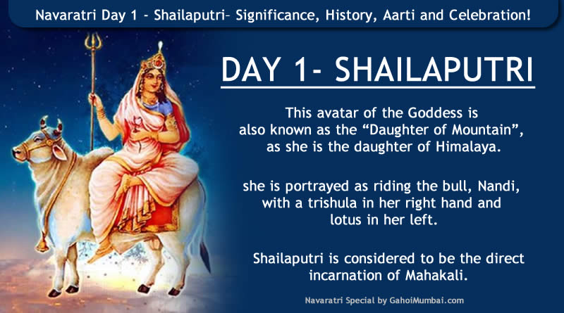 Navaratri Day 1 - Shailaputri– Significance, History, Aarti and Celebration!