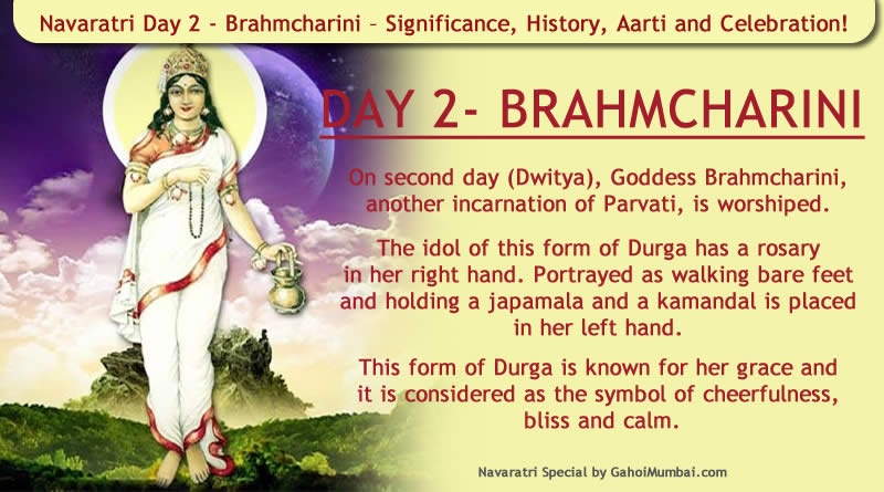Navaratri Day 2 - Brahmcharini – Significance, History, Aarti and Celebration!