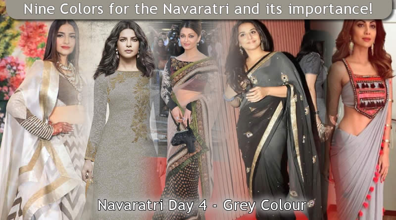 Navaratri Day 4 - Grey Colour